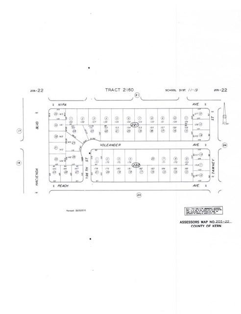 2160 Viburnum Ave Map 2160, Block, Lot 184, California City, CA 93504