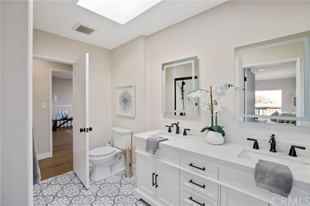 another angle of the upper level bathroom