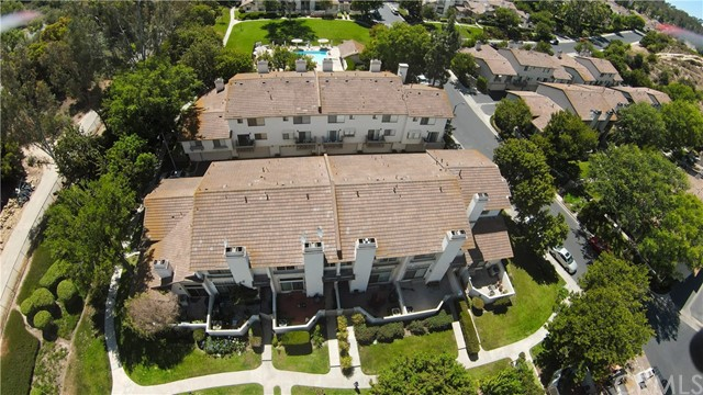 Ariel VIEW of the community of Turtle Rock Meadows...Near the Strawberry Farms golf course and the exclusive gated community of Shady Canyon.