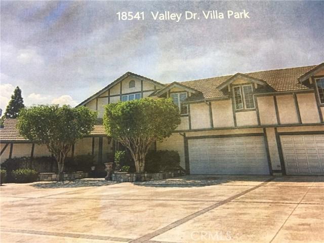 18541 Valley Drive, Villa Park, CA 92861