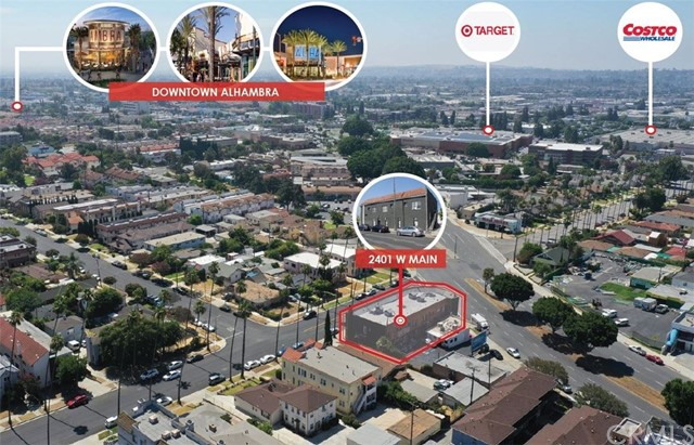 2401 W Main St is a mixed-use apartment/retail investment property in the City of Alhambra, CA. The property can be delivered 100% vacant (1 retail tenant lease expires Feb 2021) which provides ultimate flexibility to buyer that wants to set their own rental rates or use it as an owner user. The property is situated on Main Street just within walking distance to multiple power centers anchored by Target, Costco Wholesale, Aldi, Joann Fabrics, and other national/regional retailers. It is also within minutes away from Downtown Alhambra on Main St and Garfield Ave. It has an excellent demographics with $103,688 household income within a 1-mile radius  The property is a large two-story building totaling ±10,000 SF building area and situated on a ±6,140 SF lot. It was built in 1925 with Alhambra's CPD (Commercial Planned Development) zoning. The ground floor is split into 3 retail units and leased to long-time tenants that are month to month. 2nd floor unit has 8 high ceiling apartment units that are 100% vacant. Owner can deliver the building with 3 retail tenants or 100% vacant for new owner to use as an owner user building.  The property has been upgraded recently with many capital improvements, such as new exterior painting and new façade. Almost all the 2nd floor apartment units have been upgraded. The 2nd floor apartments have efficient unit mix of two (2) large x 1bed+1bath and six (6) spacious Studio units.
