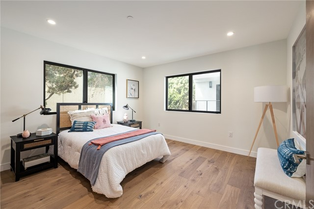 Spacious bedroom with private bath(shown here using reverse of 961 Unit A staging)