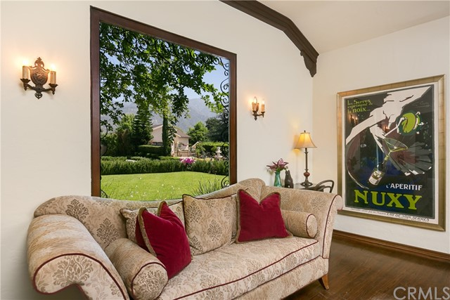 Living Room Picture Window with Mountain Views