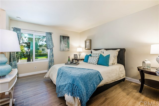 The spacious master bedroom is the perfect place to retreat after a long day!