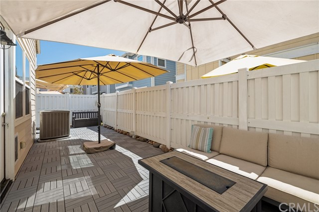 sunny filled outdoor yard space