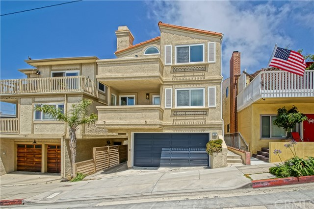Located literal steps from the beach and one of the Globes best 365 day a year surf spots, 129 38th St is a must see! Great ocean views from every unit of this stunning Manhattan beach Sand Section triplex. Perfect for a corporate rental or for those who love to be walking distance from the beach, dining and boutiques. Gorgeous hardwood floors span 6 bedrooms, 3 full baths and 3 1/2 baths. Enjoy 3 units which include 2 bedrooms and 2.5 baths each, balconies, ceiling fans and quartz counters. Up on the upper levels, relax in spacious open floor plans that are brilliant with natural light and include indoor/outdoor living spaces. Every inch of this triplex is designed impeccably. Each unit also features 2 garage spaces. Unit A  features a private 2 car garage, Unit B and C share a garage with 2 tandem parking spots per unit. Unit A was recently renovated with fine finishes and ocean views. Unit A can be a 3 bedroom owners unit and still leave you with two, two bedroom townhouses.