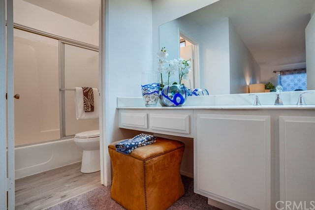 master bath with vanity area for comfort and ease