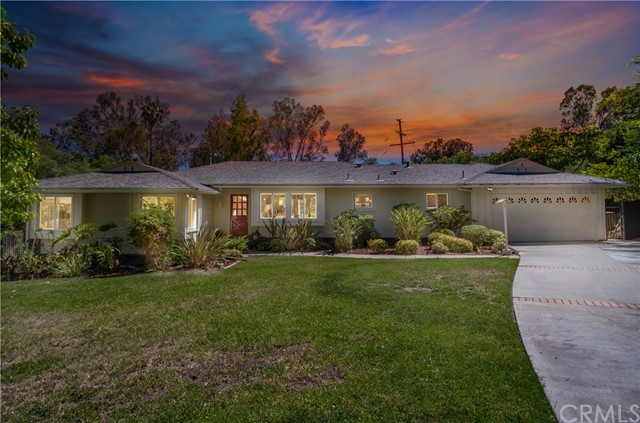 "Gorgeous home w/ 17,550 sqft Lot! Located in one of Fullerton's most desirable neighborhoods ""San Juan Estates"". This Ranch style home is situated at the end of the cul-de-sac. The owners of this lovely home did a complete remodel 2018 with permitted addition of approx. 1,200 sqft. The open floor plan addresses flexible options for current buyers. This home features 4 bedroom plus den. Spacious open floor plan offers 2 separate living quarters, each with their own master en-suite, secondary bedrooms and bathrooms. (Option to make a private residence in one of the suits) The enormous family room has cathedral ceilings, wall to wall french doors and windows that offer views of the mature private backyard and orchard. The upgrades include engineered wood floors, crown molding, custom paint, plantation shutters, recessed lighting, new electrical panel, new roof, additional A/C unit, newer windows, quartz and granite counters, tile flooring and custom fixtures. The Backyard features custom built patio area overlooks the green and private Orchard. If desired, you may be able to add a pool. RV parking is possible. If you are an investor you may entertain the option to add a private residence, an amazing way to increase your future income. This home will give the buyer the opportunity to explore options to utilize the property to fit their needs. Great Location, community club house w/pool & tennis courts. Membership is optional. Belongs to Fullerton's distinguished schools."