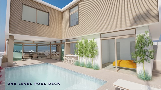 Your second-floor pool deck includes lounging space, a covered dining area and seamless flow - via retracting walls - into the great room. You and your guests can enjoy direct westerly views of the Pacific Ocean while sitting at the indoor-outdoor bar, then take a dip in the pool if the afternoon Hermosa sun gets a bit too toasty.