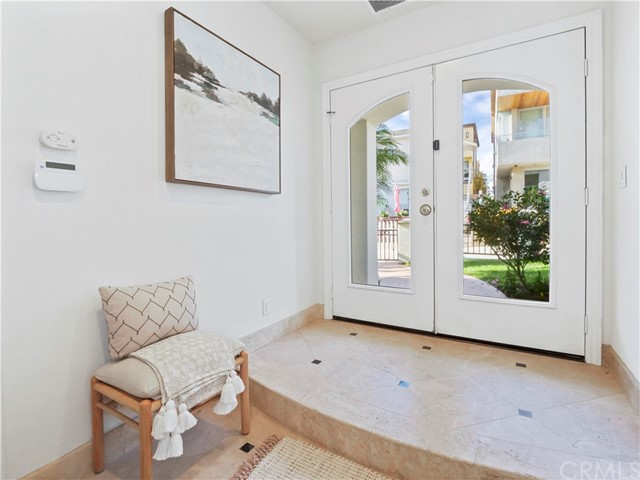 large entry way with french doors