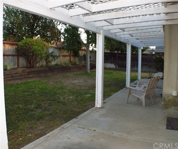 Backyard and covered patio