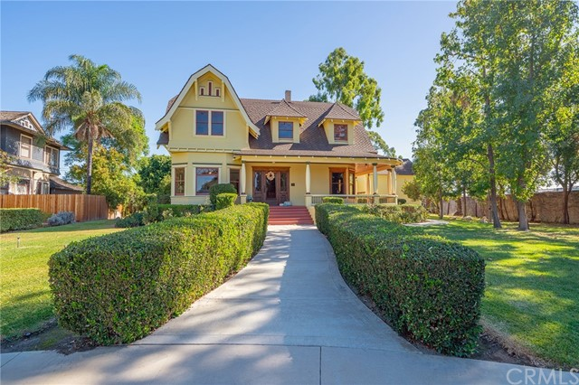 The most significant, both architecturally and culturally,  home of its size in Anaheim: The Backs House. Constructed from 1902-1904, originally located at 225 N Claudina St. for Ferdinand and Loiusa Backs.  The home has been listed on the National Register and receives the Mills Act property tax credit and has been documented at one of the finest examples of Colonial Revival Architecture in this region. The Backs were prominent members of the community and historical records show that The Backs House was visited by Andrew Carnegie, President Warren Harding, Madame Modjeska and Governor Hiram Johnson. In 1987 the Backs House was moved to its current location on prestigious Vintage Lane, a part of Heritage Square. As part of the move and restoration the Backs House received a new foundation, electrical, plumbing and a large basement and modern conveniences such as central air and heat. To aid in maintaining this distinguished home, the Mills Act tax credit program is in place with current property taxes just under $5,000 a year and transferable to the new owner, with no supplemental tax bill. Located in Downtown Anaheim. Home of the world famous Anaheim Packing House, Center Street Promenade. Just a short drive to Disneyland, Angles Stadium, the Honda Center and so many dining and shopping choices.