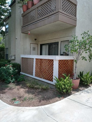 This nice gated community condo offers 2 bedrooms and 2 bathrooms with an open floor plan. Updates kitchen with new granite counters, kitchen bar/island, new wooden floors, and fresh paint ready for a new occupant. The unit comes with a washer and dryer and a bbq grill out on the deck. The community has a security guard 24/7, covered carport parking for 2 cars with storage. In-ground pool and spa plus a tennis court and clubhouse to enjoy your time with family and friends.
