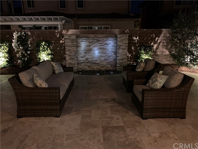 Back Patio lounging area at night