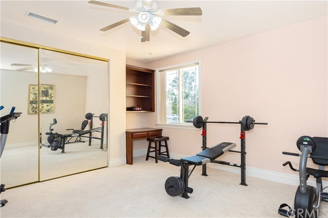 Guest Bedroom being used as Home Gym. Located on 3rd Level.