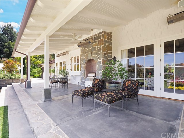 Over 1,400 sq. ft. of covered patio area with built-in bbq