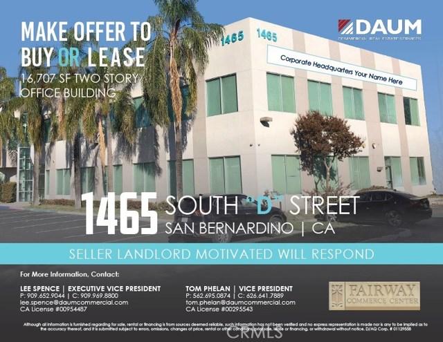 1465 S D Street, San Bernardino, CA 92408