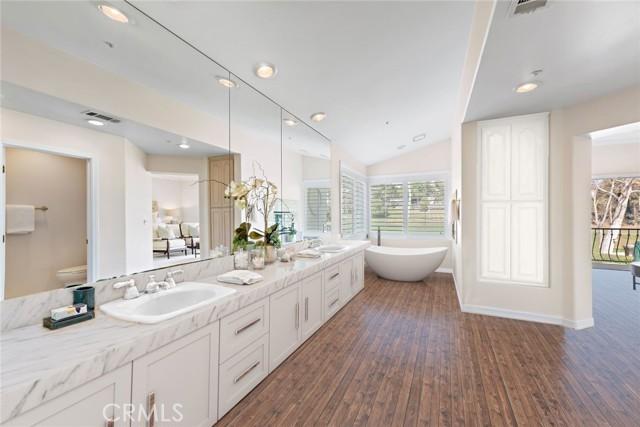Virtually renovated master bath