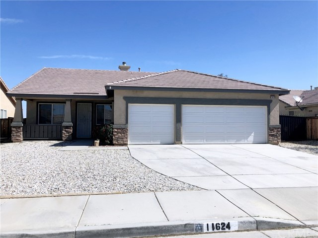 Beautiful single story home located in a nice quiet Victorville neighborhood and the snowline school district (SJUSD). Home is highly upgraded featuring 5 bedrooms and 2 bathrooms with 3 car garage. Large living room with ceiling fans and an inviting fireplace. The open kitchen offers granite countertops, elegant white cabinetry, a breakfast bar, and stainless steel appliances. Large backyard has covered patio. The primary bedroom features a walk-in closet, dual sinks in the primary bathroom, a soaking tub, and a walk-in shower. Conveniently Near Supermarket, Restaurants and Shops.