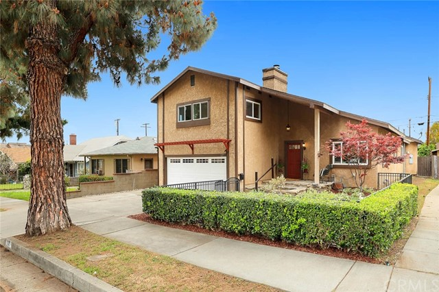 You will not believe your eyes!  Located north of Foothill Blvd and 4 blocks from Myrtle Ave, this spacious, updated, turn-key home has a lot going on! In addition to the four bedrooms and 3 baths, the home boasts a generous sized family room, full dining room, a cozy breakfast room and...wait for it... a gorgeous POOL! The skylights in the living room bathe the home in an abundance of natural light. The open and airy kitchen is also flooded in sunshine from the skylights in the high ceilings and windows surrounding the entire room. Stone counters, an abundance of cabinets & gas stovetop round out the kitchen amenities.  The master suite is located on the first floor and features a full walk-in closet and beautiful remodeled master bath. Upstairs there are 3 additional bedrooms and a full bath. California living would not be complete without a private swimming pool! Dive into the cooling waters, enjoy family BBQ's under the pergola and revel in the aromatic perfume of the citrus trees! Discover a new life in historic Monrovia with its abundance of unique shopping options, eateries and entertainment. A life experience you will be hard-pressed to find anywhere else in Southern California!