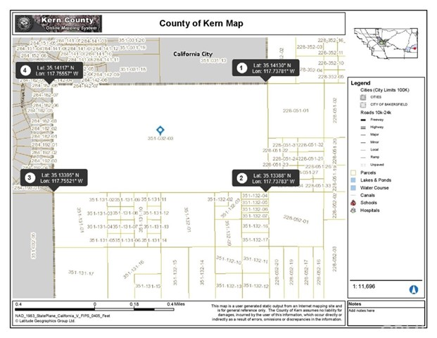 1 see parcel, California City, CA 93504