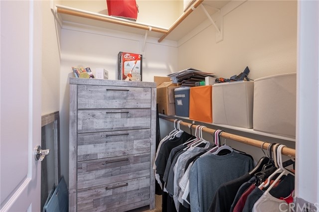 Walk-in closet with room for a chest of drawers
