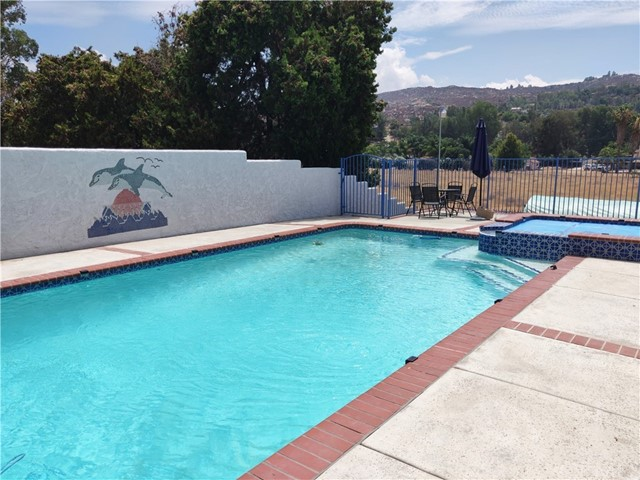 Pool and spa and mountain view