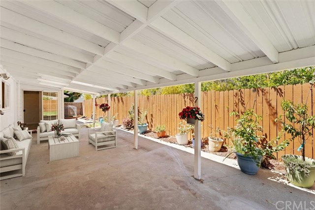 Semi enclosed patio furniture - virtual staged