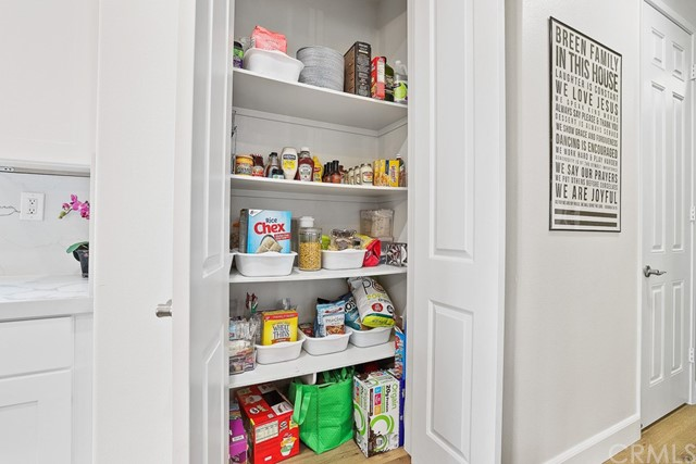 Large pantry for more storage!