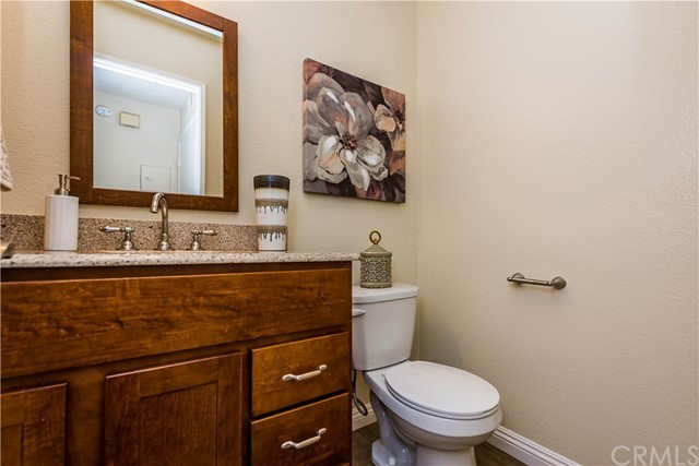 The remodeled guest bath on the main level!