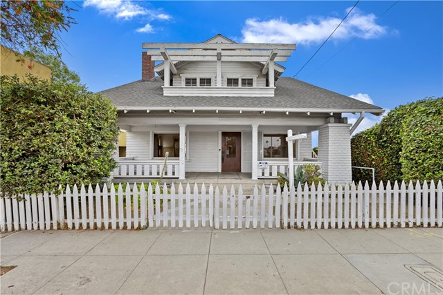 Once in a lifetime opportunity to own a rare 1909 large craftsman Ocean Park beach home located in Santa Monica on an oversized corner lot. This home has tons of character and OCEAN VIEWS from almost every room in the home.  Entering the home is like stepping inside a time capsule where you can feel and see the history this home has to offer. This is a great opportunity to make it your own and bring back the natural beauty that has been hidden over the years. View the wonders of the architectural detail, astonishing ornate woodwork and artistry, true to an original craftsman. The home is filled with terrific details including vintage built-ins, tub/showers, large picture windows, stained glass windows, window seat cabinets and so much more.  The Original wood floor spreads throughout the entire home. First level has coffer-ed ceilings, full bathroom, formal dining and sitting area, den and two fireplaces. Enjoy the incredible views from the sunroom located at the rear of the house.  The kitchen is your canvas with built-in butler's pantry, service entry door to the outside and a window over the sink that has an ocean view, all just waiting for you to make it your own.  The second level has two large bedrooms with balcony and walk in closets. Main bedroom has quiet sitting area and ocean views. Fourth bedroom has enclosed patio balcony to enjoy the sunset and watching the large sailboats go by.  Envision entertaining your friends and family on one of the largest corner lots in the neighborhood with a basement underneath and a long driveway that can fit up to five or more cars leading to a vintage carriage house that has lots of potential to create something special. Don't miss this opportunity to enjoy the lifestyle of living blocks from the beach, shopping and restaurants and owning a piece of Santa Monica's history!