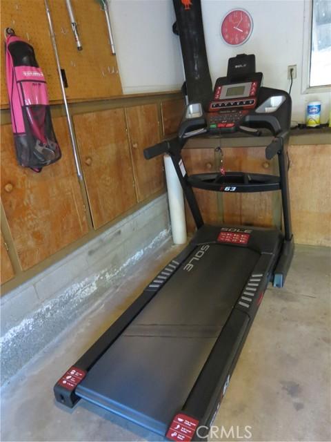 Garage exercise room