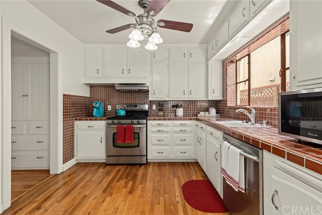 Kitchen features a built in pantry....
