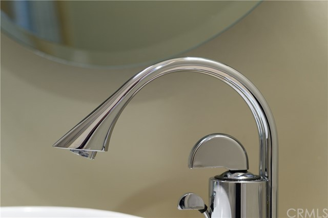 Detail of second bathroom faucet