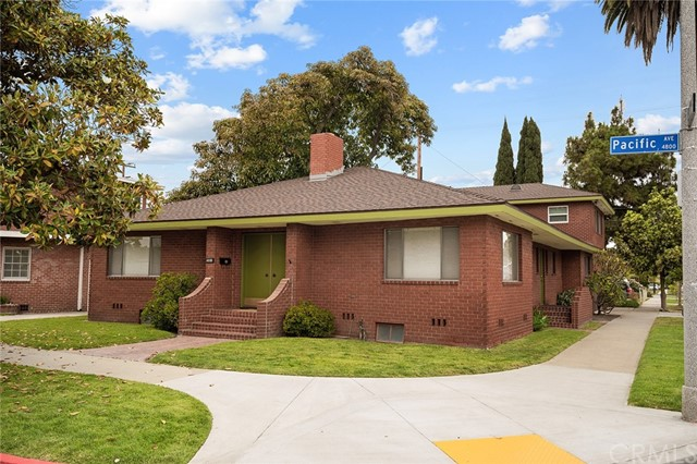 """Welcome to this Mid-Century Modern Masterpiece which has been so well built and impeccably maintained.   It is as if time has stopped in this 1960s custom built all brick property.  Hidden in the design of the home you will find homage to America's adventure in the Space Era.   This is a full duplex with a 3 bedroom, 5 bath home in the front and a full 1 bedroom apartment, with a separate entrance, over the garage making it the best deal in town at only $283 a square feet with an income producing unit to offset a mortgage payment!  In the main house, an open concept floor plan allows for the living room to pass by a fireplace to a family room or dining area space.  Both open to a courtyard patio through sliders which invite lots of natural light into the home. Walnut wood walls accent the dining area, as well as around the gas fireplace.  The courtyard patio features a mature avocado tree and private patio space. A formal dining room sits off the spacious kitchen.  Given all of our """"work at home"""" lifestyles, this now acts as an amazing separate office space, in addition to a guest powder room.  Three very large bedrooms, all en-suite, invite lots of family to call the house a home.  Bathrooms are original and will transport you back in time.  House also features a basement and large attic, ample room for storage.  Over the oversized two car garage, with"""