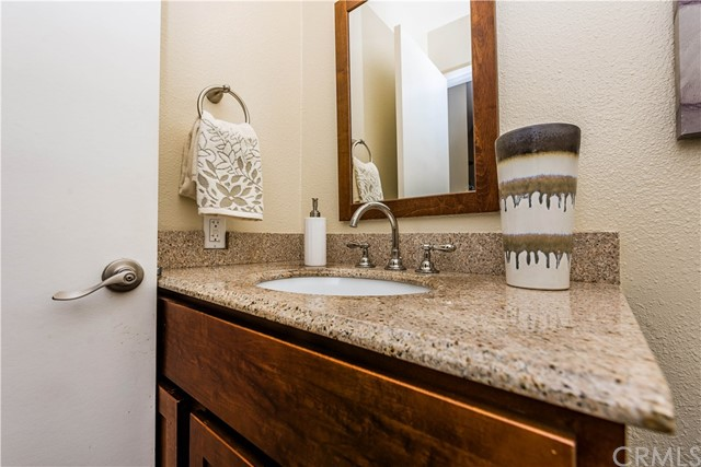 A close up view and remodeled guest bath!