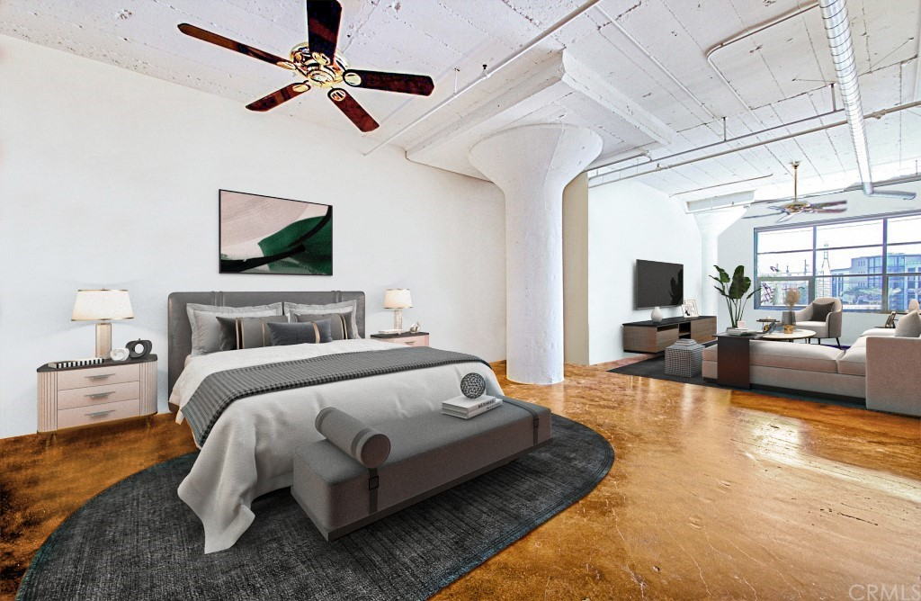 Guest bedroom (virtually staged)