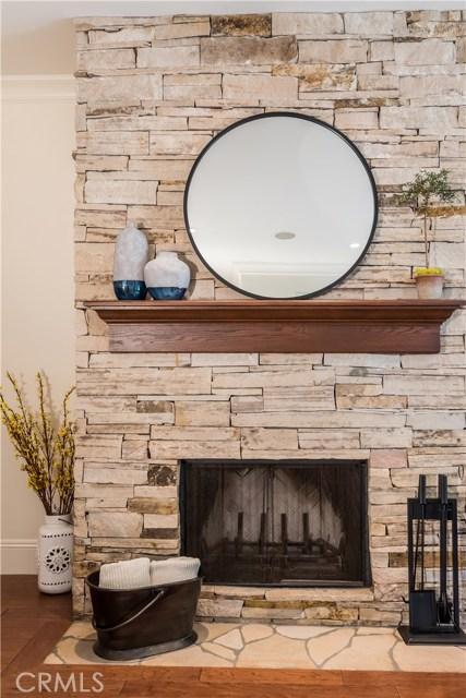 Custom Wood-Burning Stone Fireplace