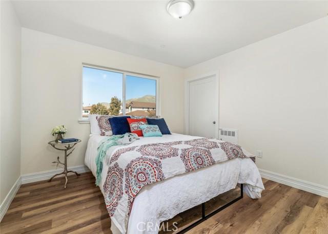 Unit 1 Bedroom with Walk-In Closet