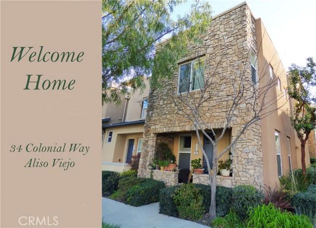 34 Colonial Way, Aliso Viejo, CA 92656
