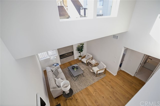View of great room from loft.