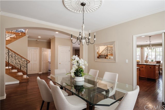 This Dining Room angle highlights more architectural details in this fabulous home