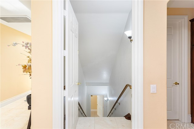 Entrance to Lower home from 2nd level. There are doors on each end that can be locked for privacy