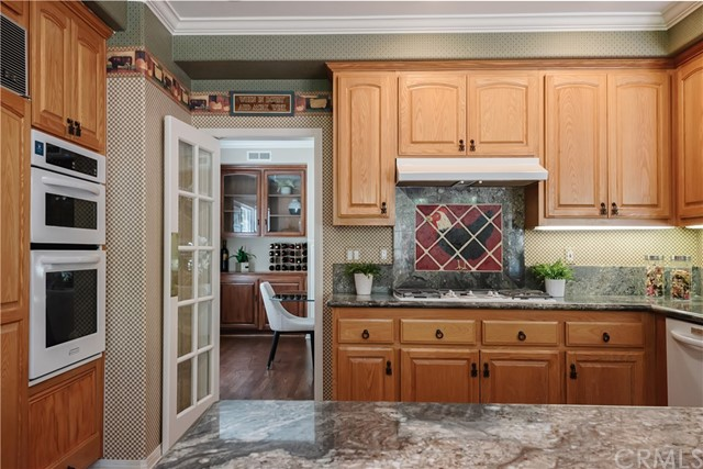 Kitchen with French Door to Dining Room