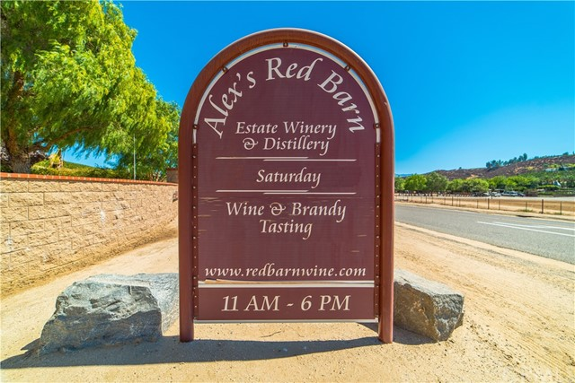 Includes 39820 & 39788 Calle Contento , This Outstanding almost 24 acres net includes Winery - Distillery - Pristine Vineyard - and a Custom Home, Winery address 39820 Calle Contento , Nestled in the heart of Temecula Valley Wine Country opportunity waits. Alex's Red Barn Winery and Distillery is a pristine vineyard on two contiguous parcels with approximately 19 acres producing and approximately 2 acres newly planted in Riesling . Included is the approx 2000 sq ft winery with a tasting room, 2 bathroomIncludes 39820 & 39788 Calle Contento , This Outstanding almost 24 acres net includes Winery - Distillery - Pristine Vineyard - and a Custom Home, Winery address 39820 Calle Contento , Nestled in the heart of Temecula Valley Wine Country opportunity waits. Alex's Red Barn Winery and Distillery is a pristine vineyard on two contiguous parcels with approximately 19 acres producing and approximately 2 acres newly planted in Riesling . Included is the approx 2000 sq ft winery with a tasting room, 2 bathrooms, a large refrigeration area, and the equipment to produce and bottle the wines and the Brandies on site. A large patio area is available for social gatherings. Alex's Red Barn Winery And Distillery produces old vine varietals such as Sauvignon Blanc, Riesling, & Cabernet Sauvignon. Additional varietals are Syrah , Viognier , Muscat Canelli , Grenache (for wine and port ), Cabernet Franc , Palomino ( for cream sherry ) , This property has Category 5 hospitality winery potential . The approx 4000 sq ft custom home has 4 bedrooms / 5 bathrooms and is architecturally stunning. It is designed to be a residence, vacation rental, wedding venue, etc. Open beamed ceilings, French doors, Granite Counter tops, and many custom finishes makes it perfect for any hospitality event. The location and facilities make this the perfect opportunity for today and future growth. NOTE- CALL AGENT IMPORTANT ADDITIONAL SUPPLEMENTAL INFORMATION and WEB SITES