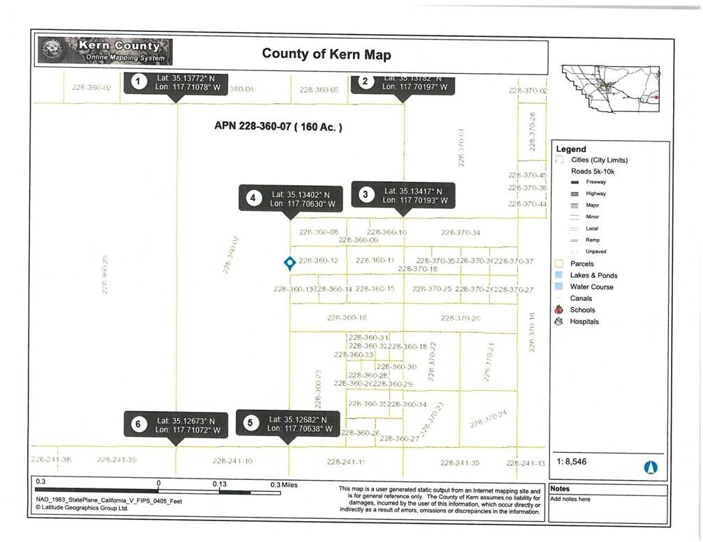 1 see parcel, Aerial Acres, CA 93523
