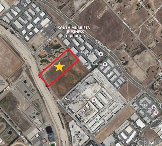 """Located in Murrieta City, Riverside, this development opportunity is a total of 10.43 acres (454,331 SF). The property currently is commercial Area zoned for """"General Industry""""  use.  It is approximately a half of mile from the I-15, and 2.5 miles from the I-215, which makes it an easy commute to surrounding cities such as: Temecula, Lake Elsinore, Canyon Lake, Corona, and Menifee.  Seller is willing to entertain all reasonable offers."""