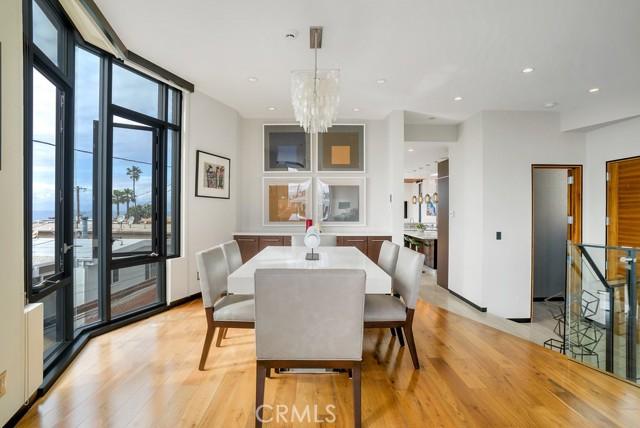 Elevated Dining room captures ocean views