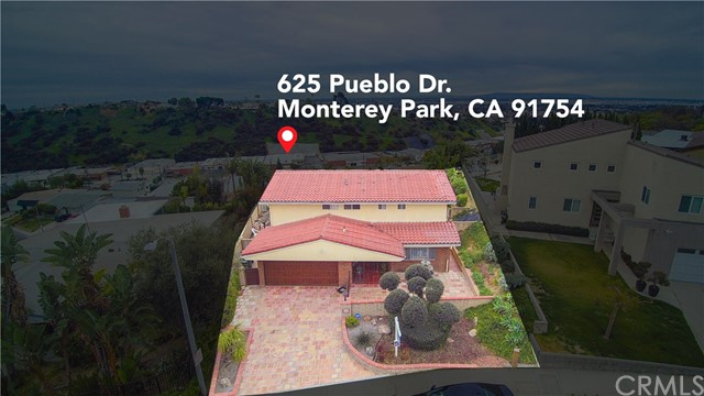 Welcome to 625 Pueblo Drive. This perfect 5 bedroom, 3 full bathroom home features a magnificent view on a huge over 15,000 sqft lot, located in a quiet cul-de-sac. Double front entry doors open to the hallway that leads into a spacious living room with a fireplace and wood laminate flooring throughout. All bedrooms upstairs have a view of city lights, with 2 sizable bedrooms downstairs and a full bathroom. The large kitchen has granite countertops and offers a view of the backyard which presents a large deck, fire pit, and sparkling pool overlooking the southeast skyline. This home is located within the Award-winning Monterey Highland (k-8) and Mark Keppel School boundaries. Amazing 180-degree view! Price reduced on 4/17.