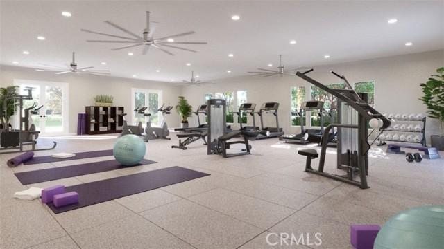 Esplanade Fitness Center rendering.